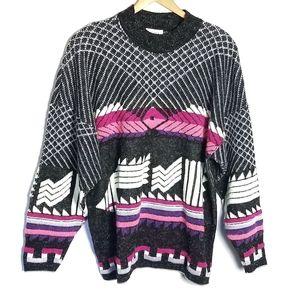 Vintage crew neck 90s vibe sweater